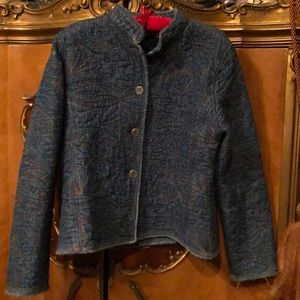 Gorgeous Chico's Embroidered Denim Jacket